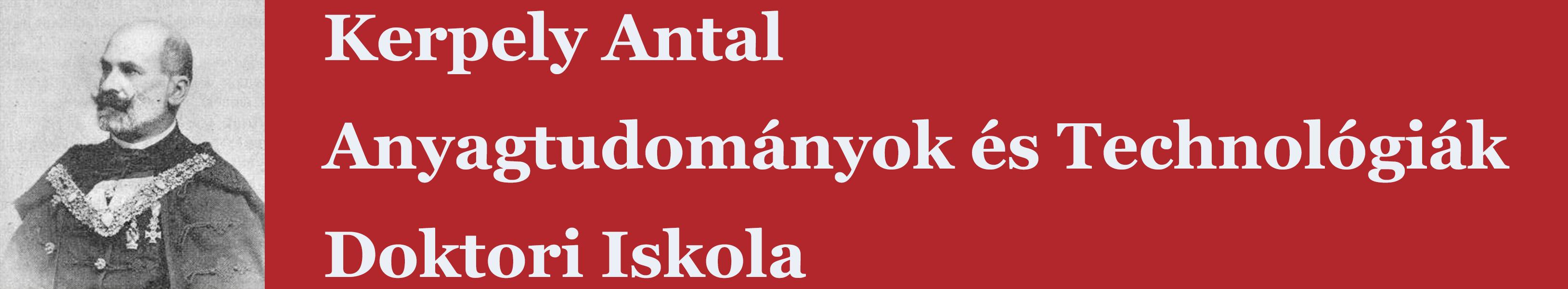 Kerpely Antal Anyagtudományok és Technológiák Doktori Iskola